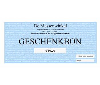De Messenwinkel geschenkbon €50,00