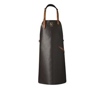 Crafted schort zwart leder
