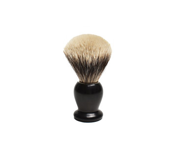 Gentleman Barbier Silvertip kwast Ebbenhout 14