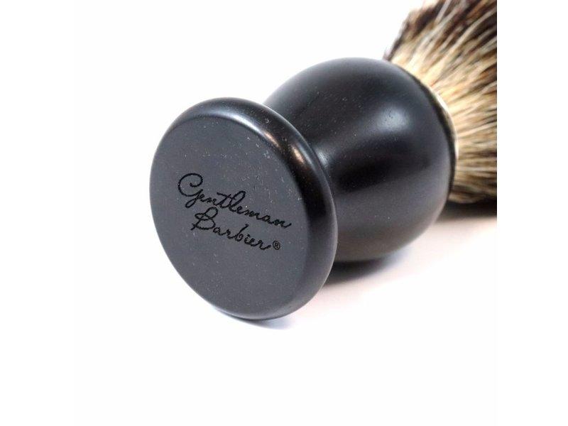 Gentleman Barbier silvertip kwast in ebbenhout (12 cm)