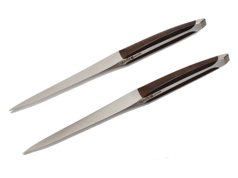 Sknife 2 Steakmessen Walnoot