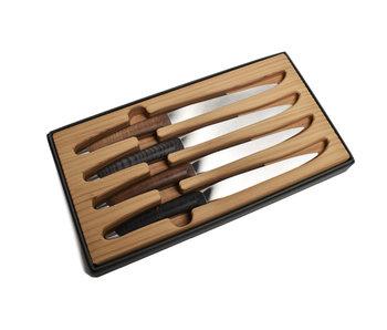 Sknife 4 Steakmessen Hout variaties