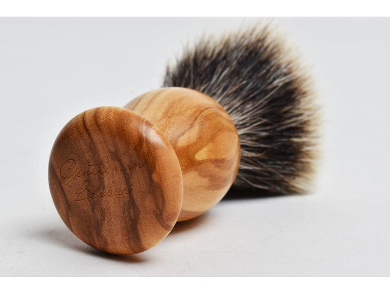 Gentleman Barbier silvertip kwast in olijfhout nr. 12