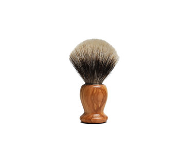 Gentleman Barbier silvertip kwast in olijfhout (12 cm)