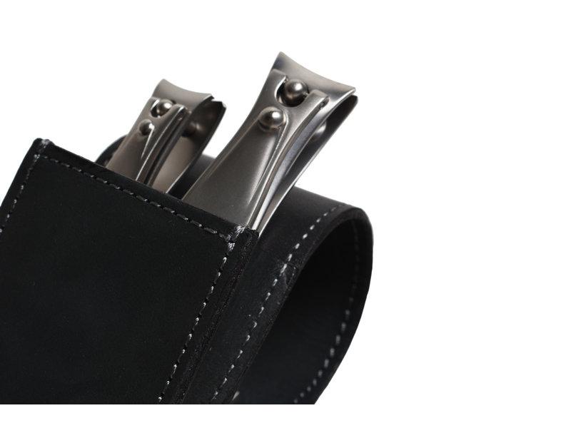 Erbe 2-delig zwart etui met 2 nagelknippers