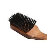 Keller haarborstel voor heren met kort handvat en zwijnenhaar