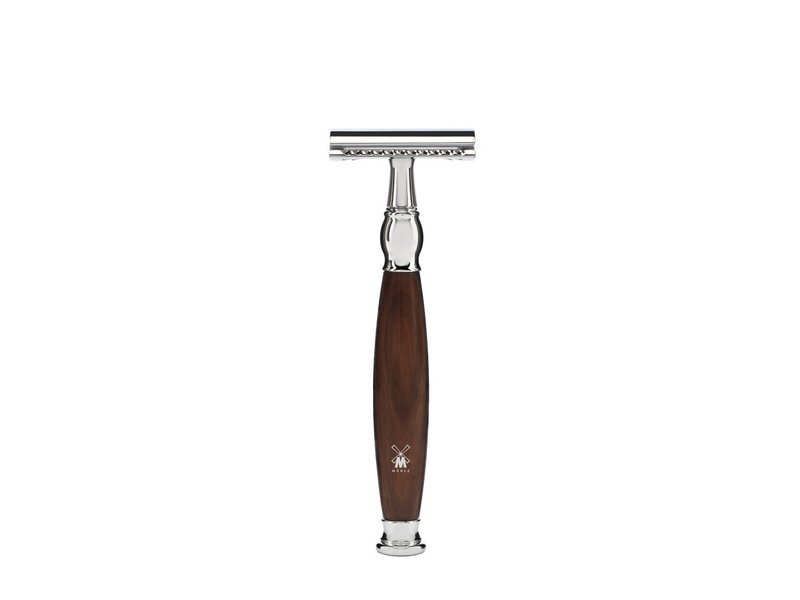 Muhle SOPHIST scheerset in ironwood safety razor