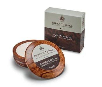 Truefitt & Hill Sandalwood scheerzeep in mooie houten scheerkom
