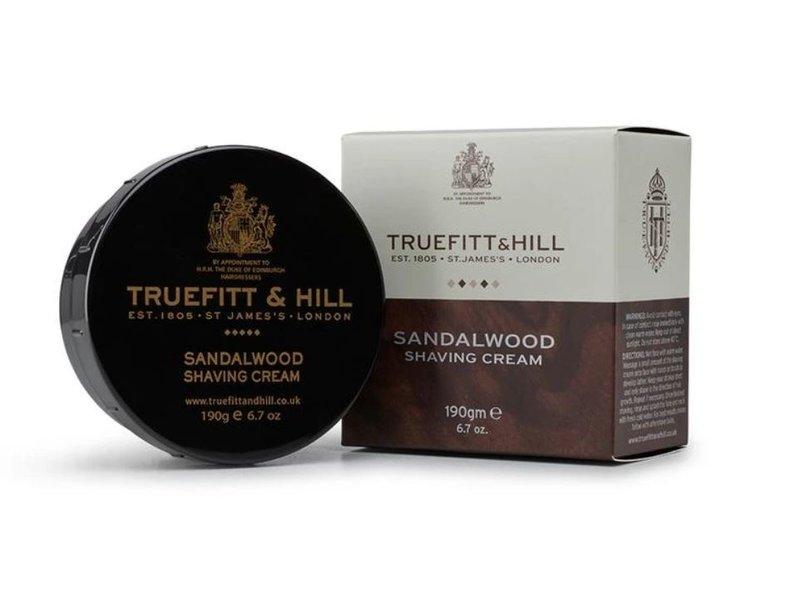 Truefitt & Hill Sandalwood scheercreme in mooie zwarte kom