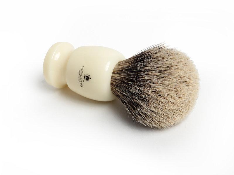 Vie-Long silvertip scheerkwast met wit heft