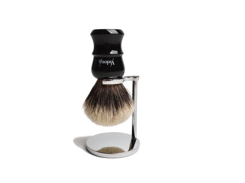 Vie-Long silvertip scheerkwast met zwart heft