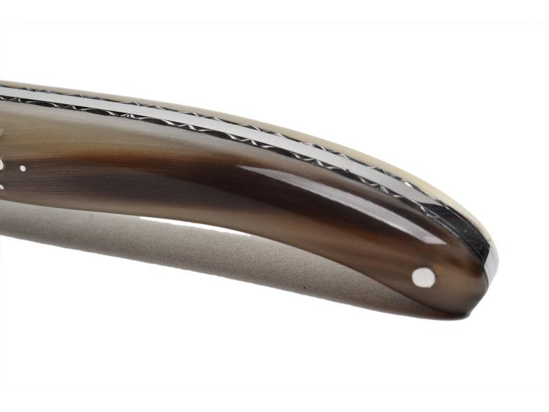 Laguiole en Aubrac 12 cm punthoorn met enkel eindstuk blinkend