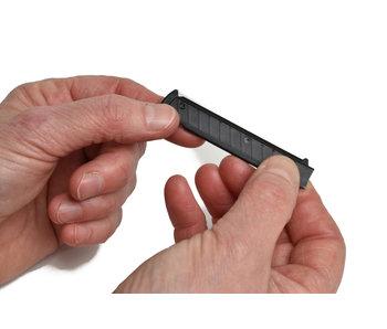 Erbe Zwart Shavette houdertje voor lange mesjes (alleen voor Wasa-shavette)