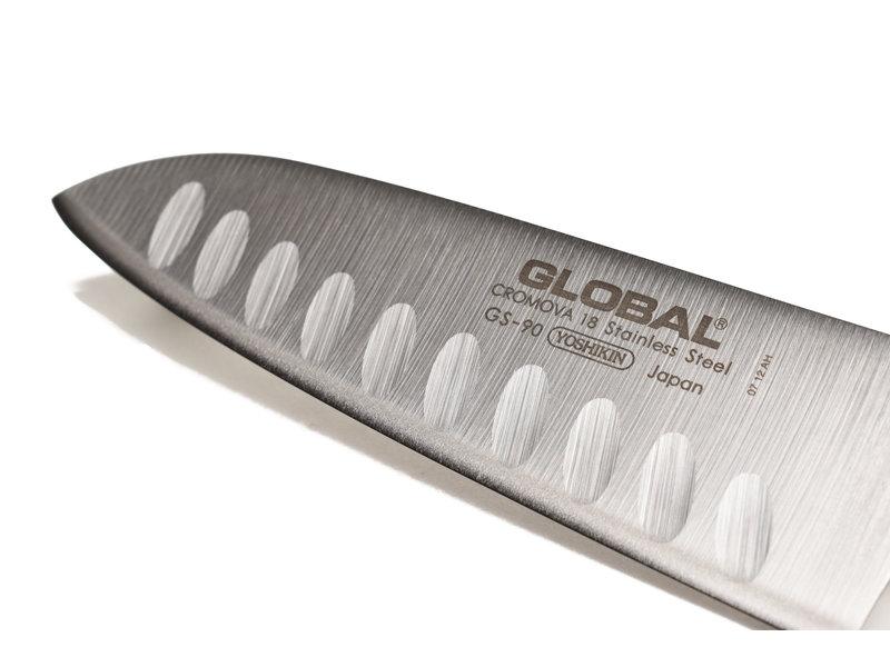 Global GS90 santoku met kuiltjes 13cm