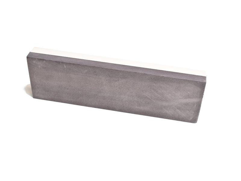 Ardennes witte korundum steen / BBW combinatiesteen 20 x 6 cm