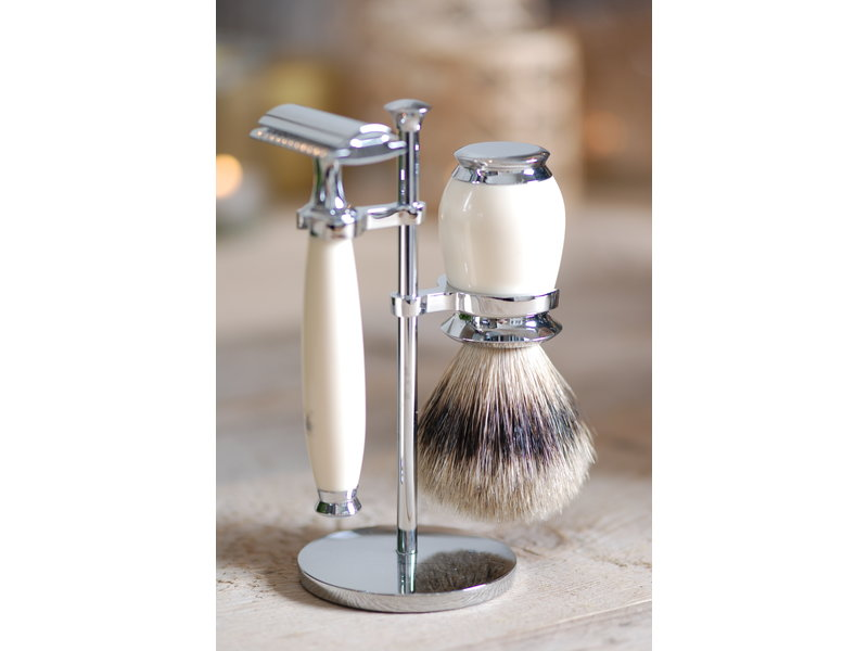 Muhle PURIST serie wit ivoor - safety razor