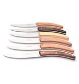 Goyon-Chazeau 6 steakmessen Styl'ver verschillende houtsoorten