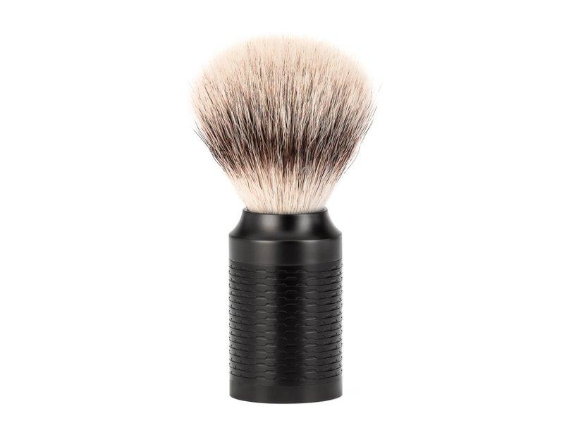 Muhle Rocca set safety razor zwart Silvertip Fibre