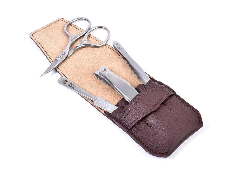 Niegeloh 4-delig etui met nagelknipper en schaar