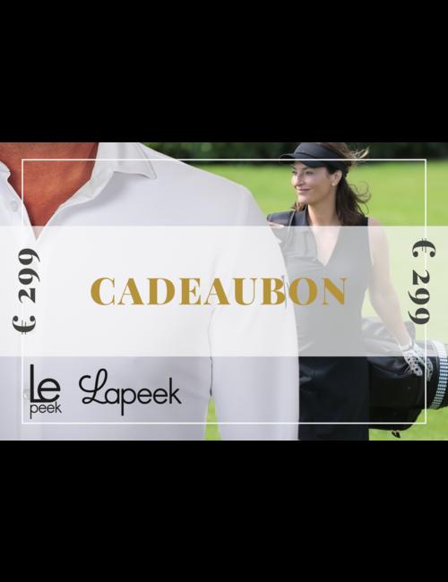 Cadeaubon Lapeek en Lepeek