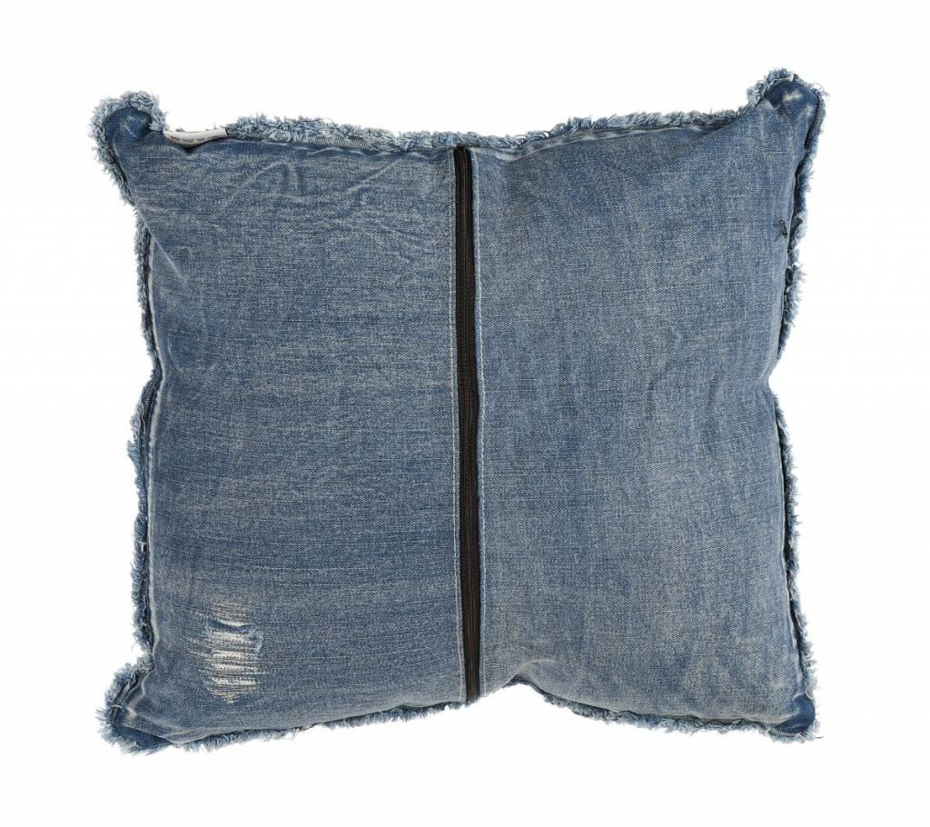 Jeans kussen met rits 40x40