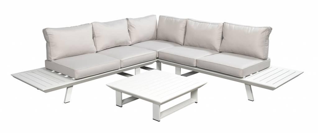 Bel-Air 4-delige loungeset aluminium