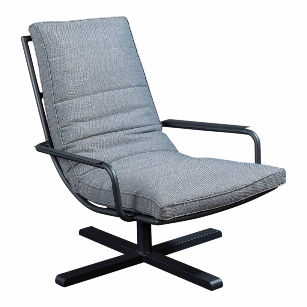 Papagayo loungestoel met armleuning, aluminium