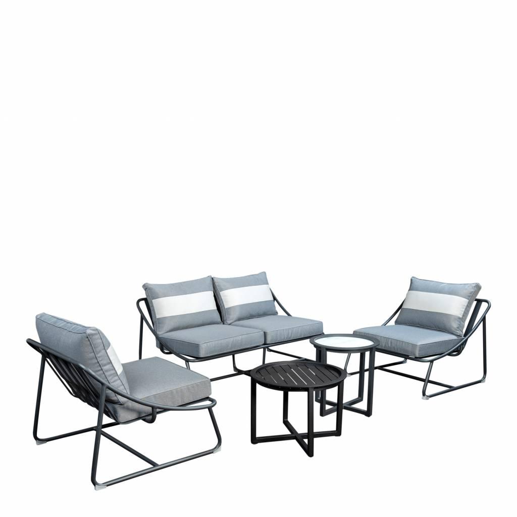 Todt Hill 5-delige sofaset incl. Queens tafels - aluminium