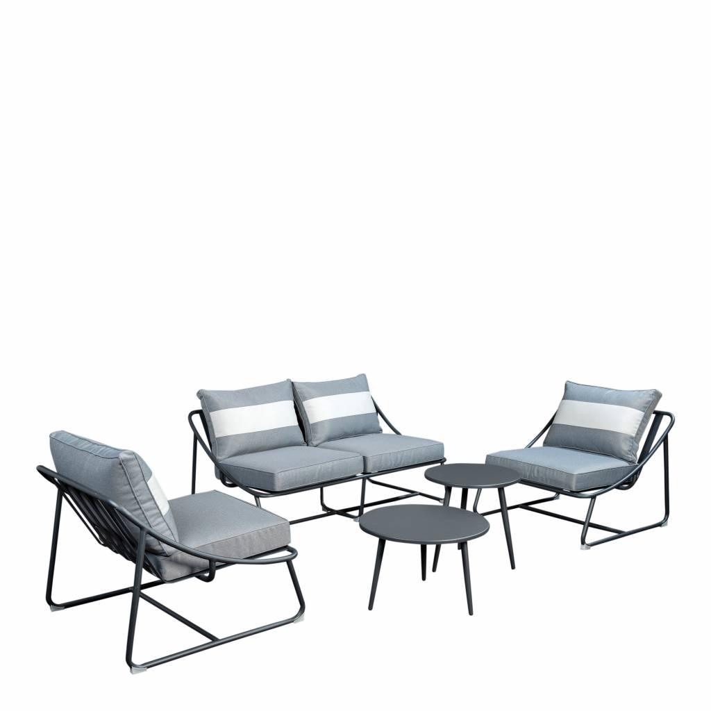 Todt Hill 5-delige sofaset  incl. Coppa tafels- aluminium
