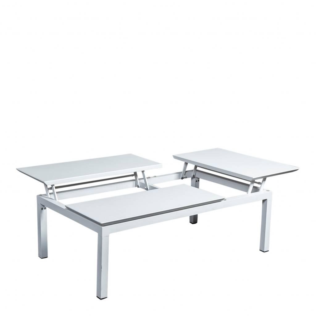Central verstelbare  loungetafel 120x72cm, aluminium