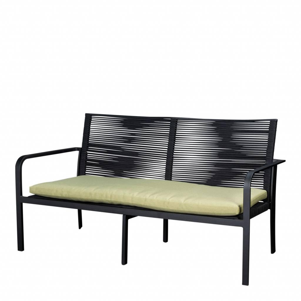 Butterfly 2-zits loungebank, aluminium-rope