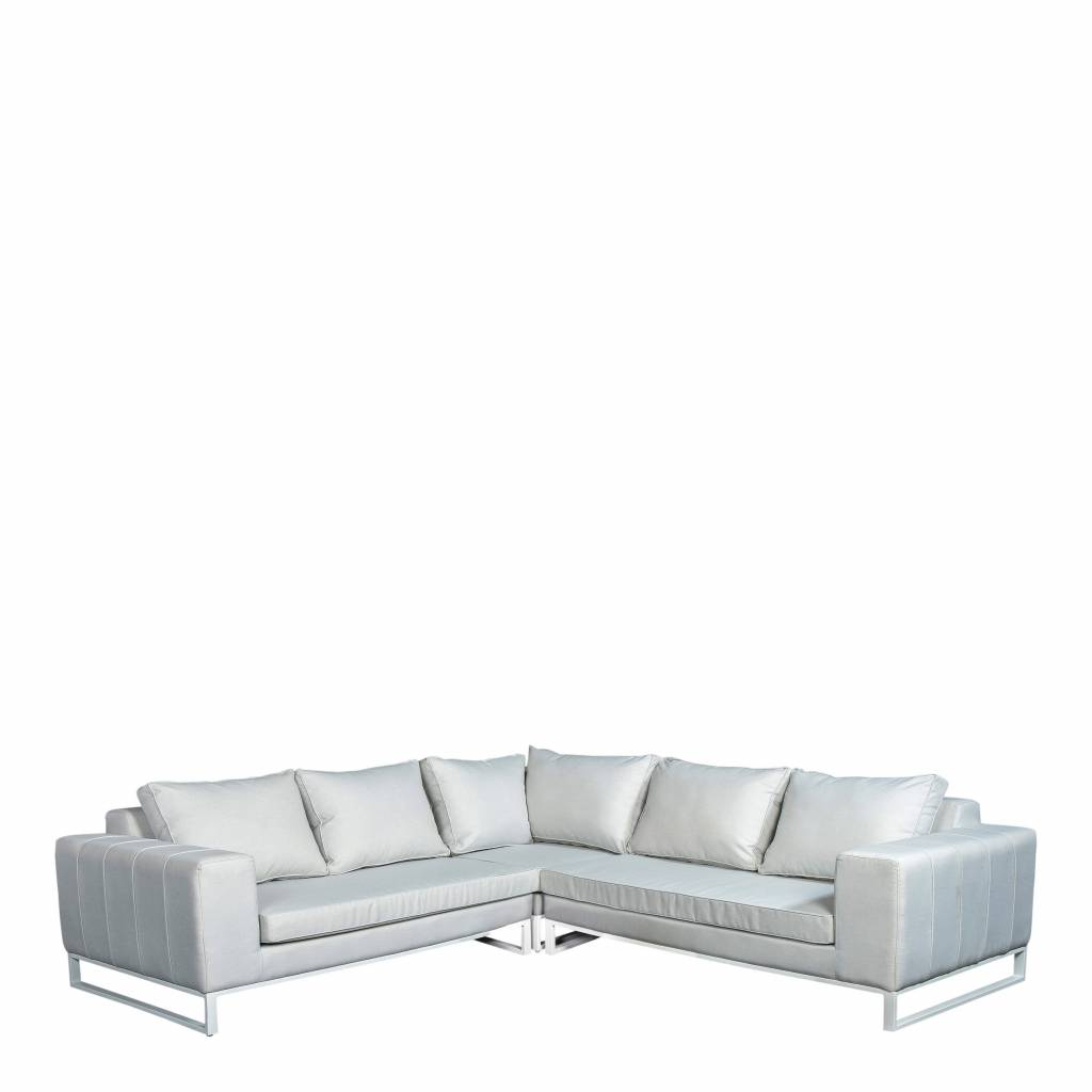 Blizzard 3-delige loungeset quilted,  aluminium-upholstery