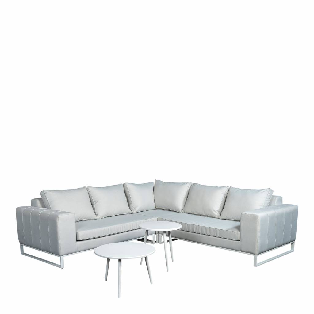 Blizzard  5-delige loungeset quilted,  aluminium-upholstery