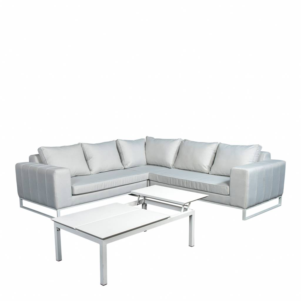 Blizzard  4-delige loungeset quilted,  aluminium-upolstery