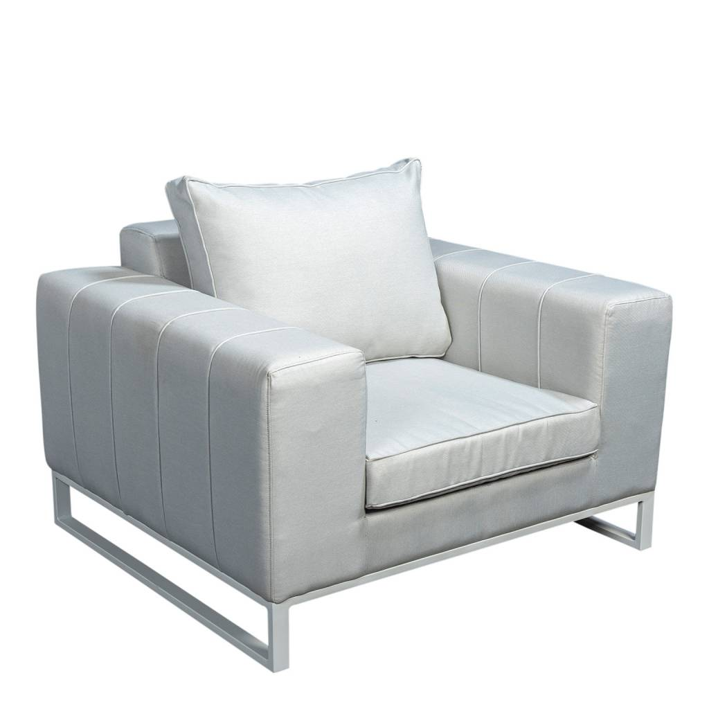 Blizzard  loungestoel quilted, aluminium-upholstery