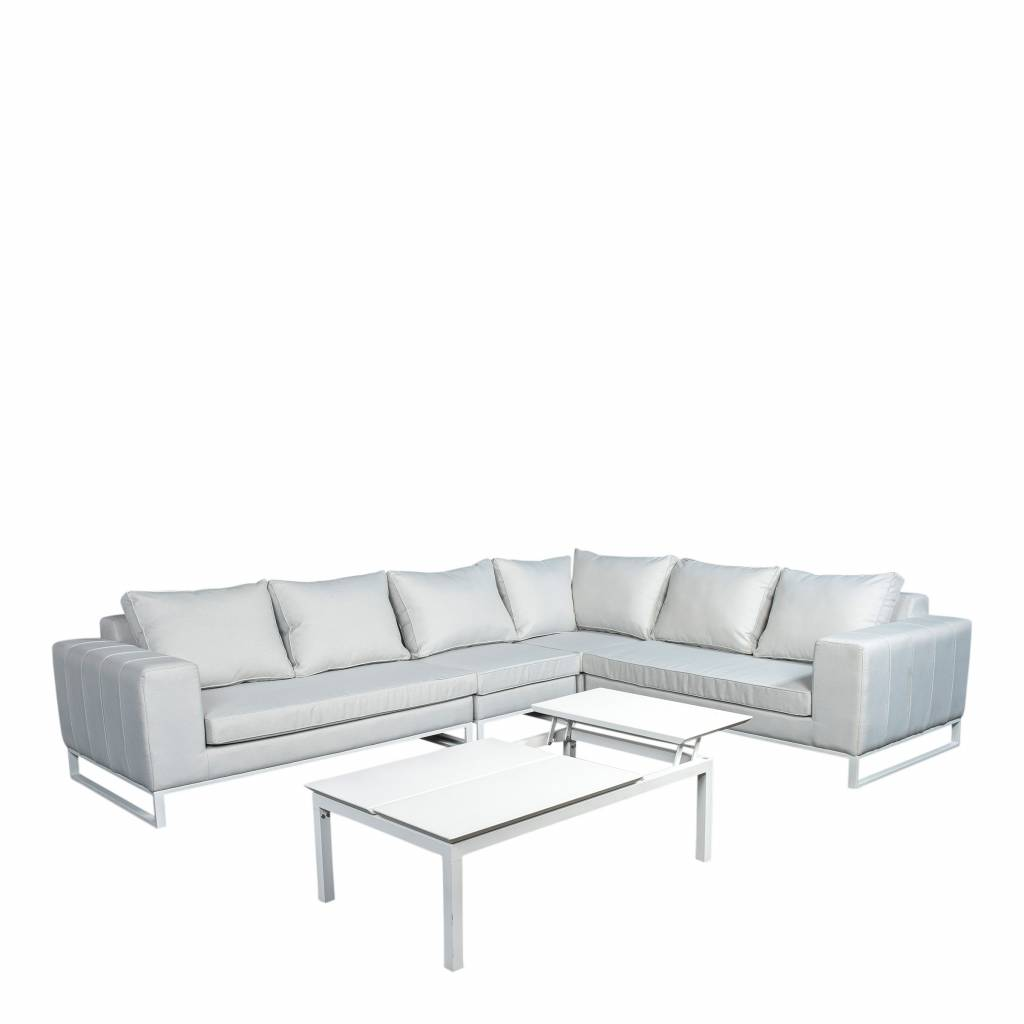 Blizzard  5-delige loungeset XL quilted,  aluminium-upholstery