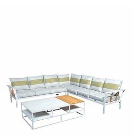 Central 4-delige loungeset-tafel 140x80cm