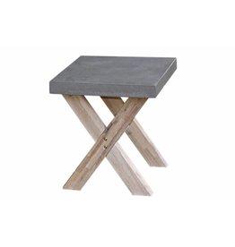 Ramatuelle footstool 50x40cm