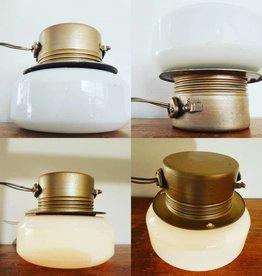 Opaline gouden art deco scheepslampen wandlamp plafondlamp