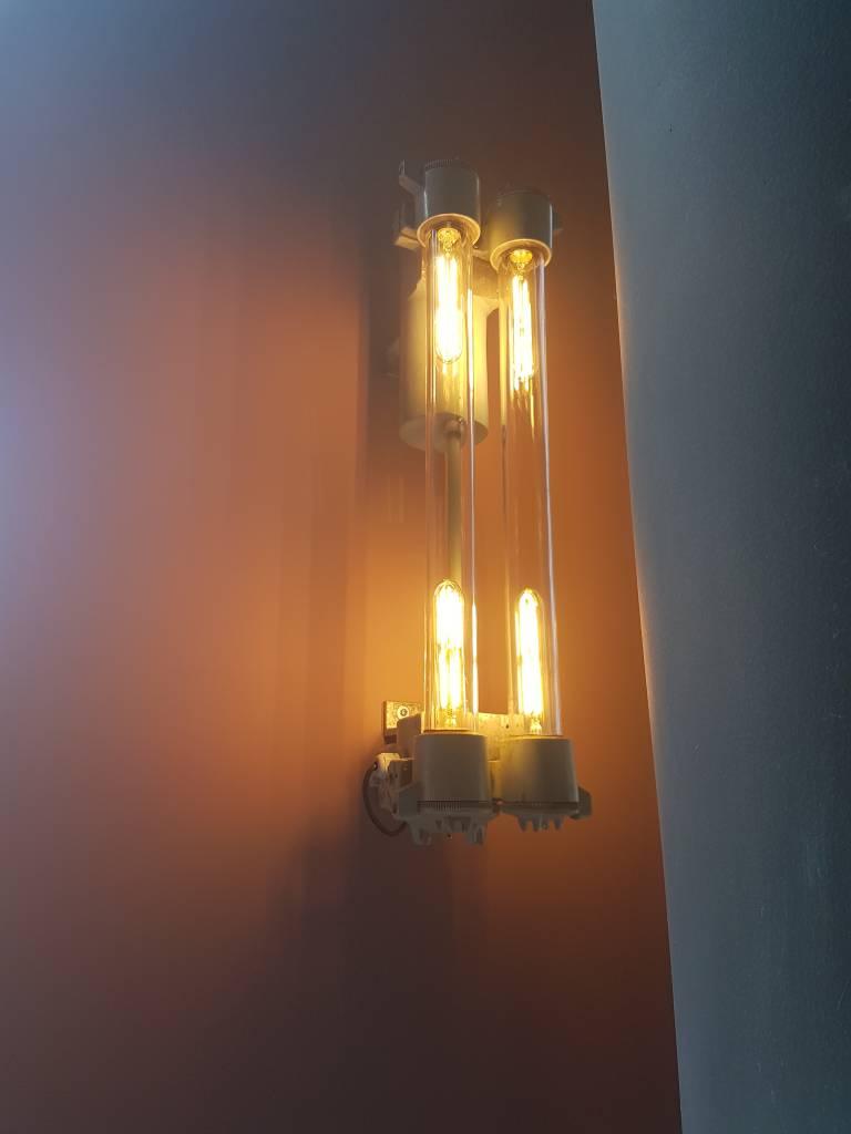 Industriele dubbele glazen tube lamp