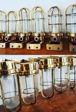 Industriële messing wandlamp bullseyelampen
