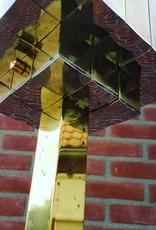 Zeldzame vintage '70 hanglamp 120x60x20cm