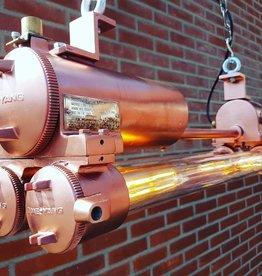 Industriele dubbele hanglamp wandlamp