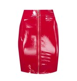 WETLOOK SKIRT RED