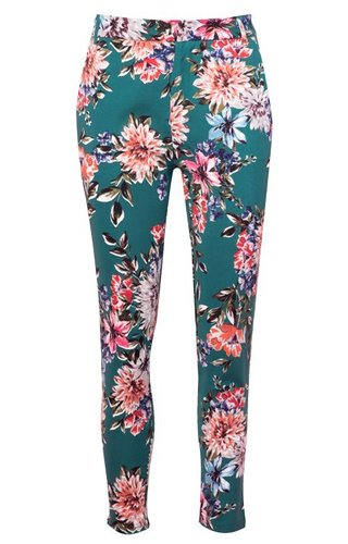 GREEN FLOWER PANTALON