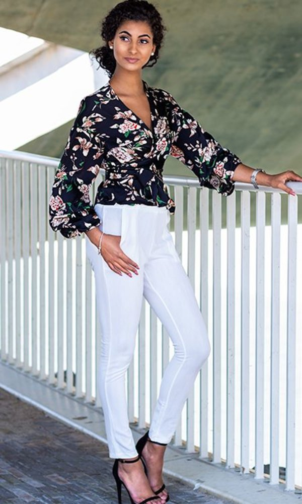 Dolly Wrap Blouse