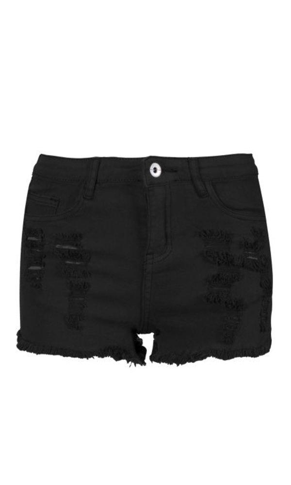 Black Demin Short