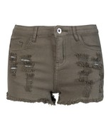 KHAKI DENIM SHORT