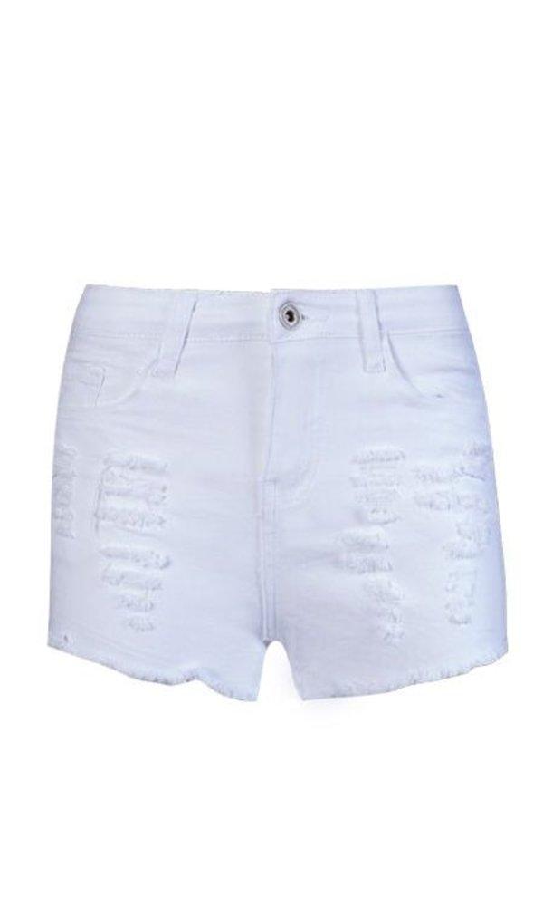White Demin Short