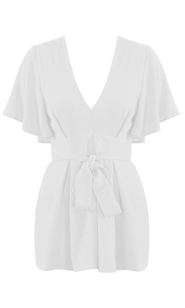 Cute Bow Playsuit